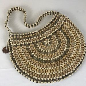 The Sak Wooden Beaded Boho Purse